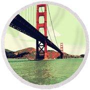 Under The Golden Gate Round Beach Towel