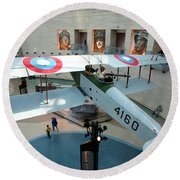 Under The Jenny At The Marine Corps Museum Round Beach Towel