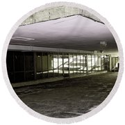 Under The Library Round Beach Towel