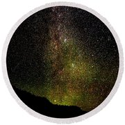 Under The Milky Way Round Beach Towel by Greg Norrell