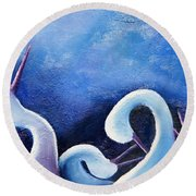 Under The Moonlight II Round Beach Towel
