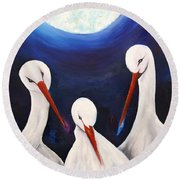 Under The Moonlight - Forever Round Beach Towel