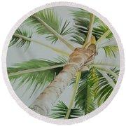 Under The Palm Round Beach Towel