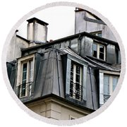 Under The Rooftops Of Paris Round Beach Towel
