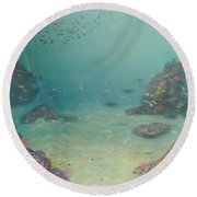 Under The Sea Round Beach Towel by Pamela  Meredith