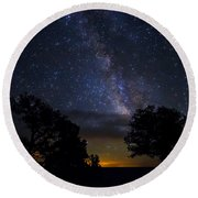 Under The Stars At The Grand Canyon  Round Beach Towel
