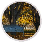 Round Beach Towel featuring the photograph Under The Tree by Sebastian Musial