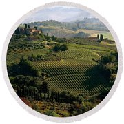 Under The Tuscan Sun Round Beach Towel