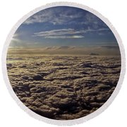 Round Beach Towel featuring the photograph Undercast And Sun by Greg Reed
