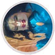 Underwater Geisha Abstract 1 Round Beach Towel