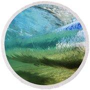 Underwater Wave Curl Round Beach Towel