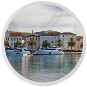 Unesco Town Of Trogit View Round Beach Towel