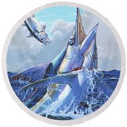 Unexpected Off0093 Round Beach Towel by Carey Chen