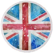 Union Jack Round Beach Towel by Sean Parnell