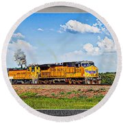 Union Pacific Railroad 2 Round Beach Towel