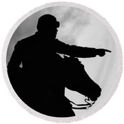 Union Silhouette  Round Beach Towel