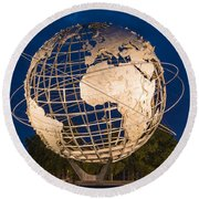 Unisphere Nights Round Beach Towel