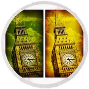 United Colors Of Big Ben Round Beach Towel by Stephen Stookey