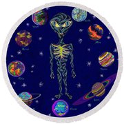 United Planets Of The Zeta Reticulans Round Beach Towel