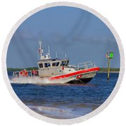 United States Coast Guard Round Beach Towel
