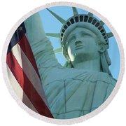 United States Of America Round Beach Towel by Jewels Blake Hamrick