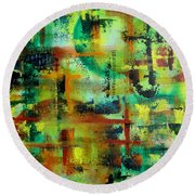 Two Sphere Round Beach Towel