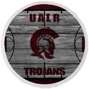 University Of Arkansas At Little Rock Trojans Round Beach Towel