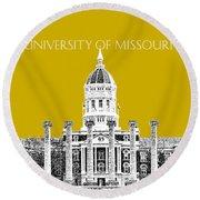 University Of Missouri - Gold Round Beach Towel