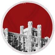 University Of Oklahoma - Dark Red Round Beach Towel