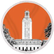 University Of Texas - Coral Round Beach Towel