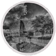 Unobstructed View Round Beach Towel by Dennis Baswell