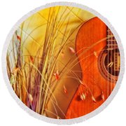 Unplayed Melody Round Beach Towel by Wallaroo Images
