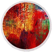 Untamed Colors  Round Beach Towel by Prakash Ghai