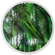 Forest Of Duars Round Beach Towel