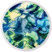 Fake Ophelia Round Beach Towel