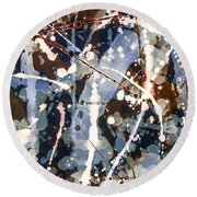 Smoke And Mirrors Round Beach Towel