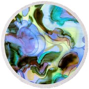 Touch Of Monet Round Beach Towel