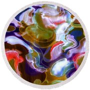 Disco Mountain Round Beach Towel