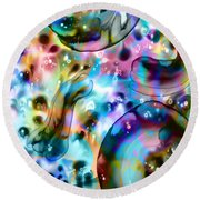 Molecules And Mankind Round Beach Towel