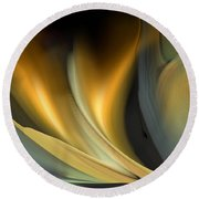 Untitled 8 Abstract Round Beach Towel by rd Erickson