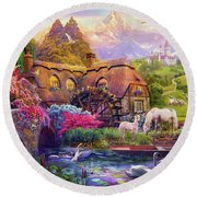 Light Palace Round Beach Towel