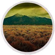 Untitled Xxv Round Beach Towel
