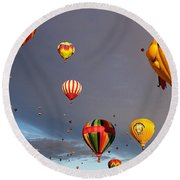 Round Beach Towel featuring the photograph Up And Away by Dave Files