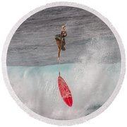 Up And Down Round Beach Towel