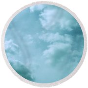 Up Into The Heavens Round Beach Towel