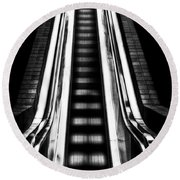 Up Or Down Round Beach Towel by Mark Alder