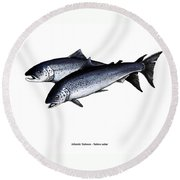 Up River Round Beach Towel