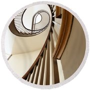 Up Stairs Round Beach Towel by Alexey Stiop