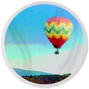 Up Up And Away Round Beach Towel