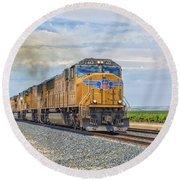 Up4421 Round Beach Towel by Jim Thompson